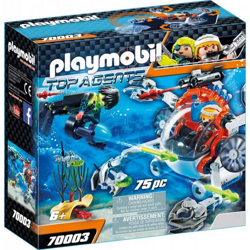 Playmobil 70003 SPY TEAM tengeralattjárója