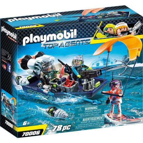 Playmobil 70006 TEAM S.H.A.R.K. Szigonyos hajója