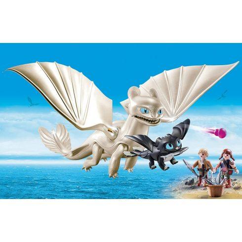 Playmobil 70038 Fényfúria bébisárkánnyal és gyerekekkel
