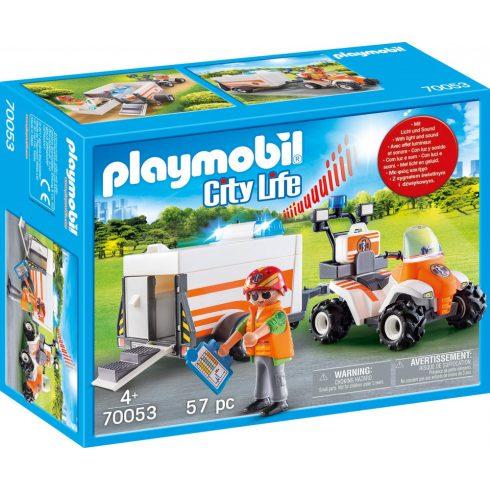 Playmobil 70053 Mentőquad pótkocsival