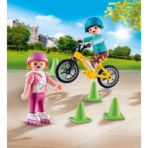 Playmobil 70061 Görkorizó és bicikliző gyerekek