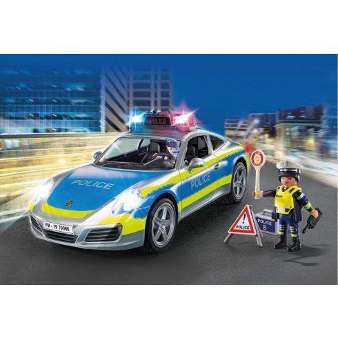 Playmobil 70066 Porsche 911 Carrera 4S rendőrautó fénnyel és hanggal