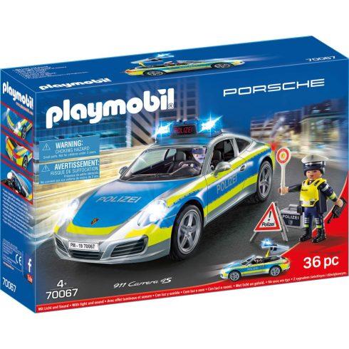 Playmobil 70067 Porsche 911 Carrera 4S rendőrautó fénnyel és hanggal