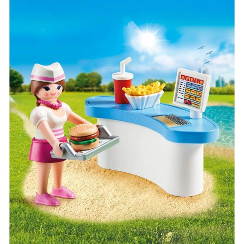 Playmobil 70084 Pincérnő pénztárgéppel húsvéti tojásban