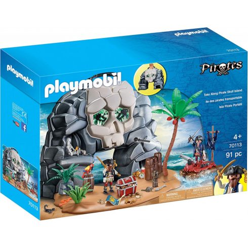 Playmobil 70113 Hordozható kalóz koponyasziget