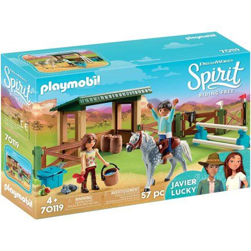 Playmobil 70119 Spirit - Lucky & Javier lovaglóköre