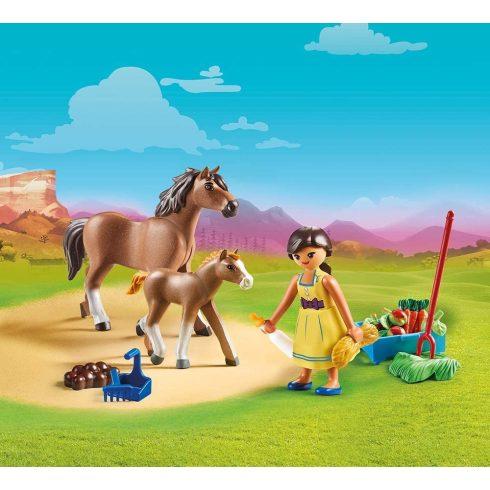 Playmobil 70122 Spirit - Pru lóval és csikóval