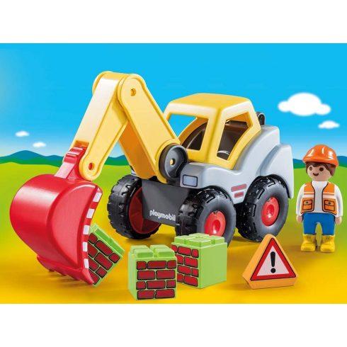 Playmobil 70125 1.2.3 Lapátos kotrógép