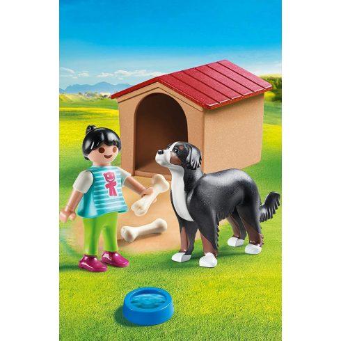 Playmobil 70136 Házőrző kutyaházzal