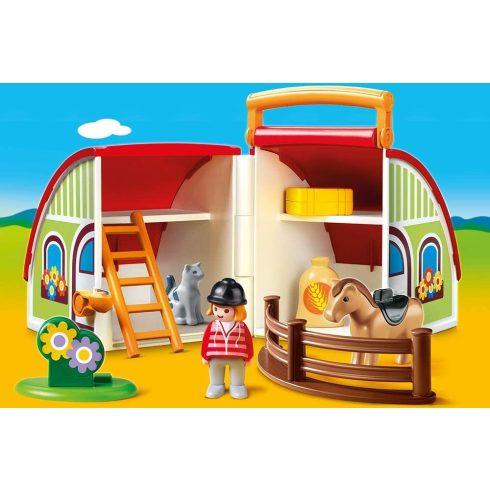 Playmobil 70180 1.2.3 Hordozható lovardám