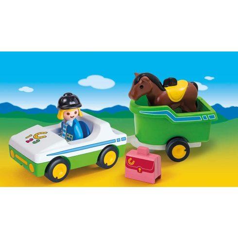 Playmobil 70181 1.2.3 Kisautó lószállítóval
