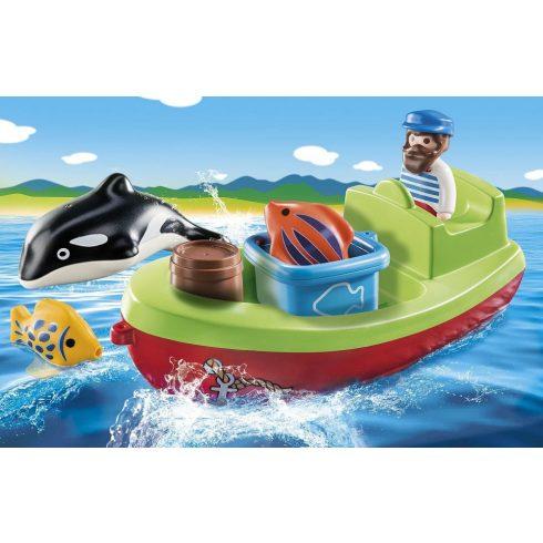 Playmobil 70183 1.2.3 Tengerész halászcsónakkal