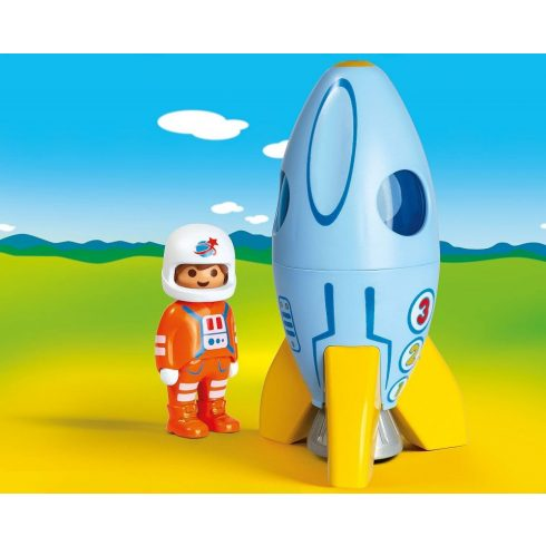 Playmobil 70186 1.2.3 Űrhajós rakétával