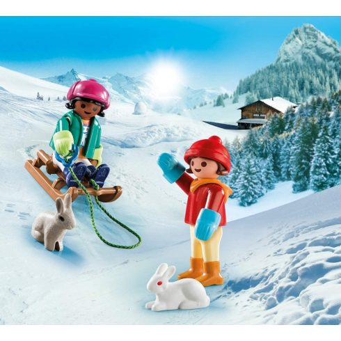 Playmobil 70250 Szánkózó gyerekek