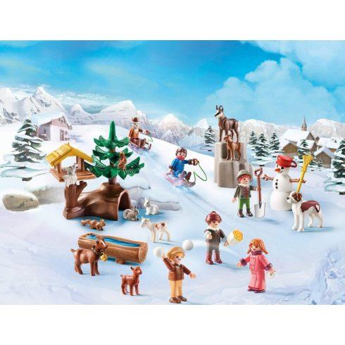 Playmobil 70260 Karácsony - Heidi adventi kalendárium, naptár - Heidi téli világa