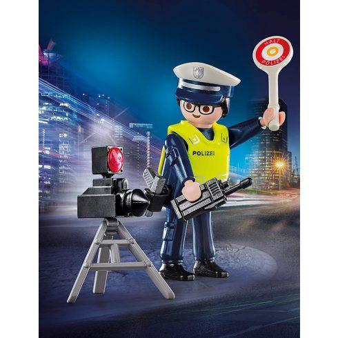 Playmobil 70304 Rendőr sebességmérővel
