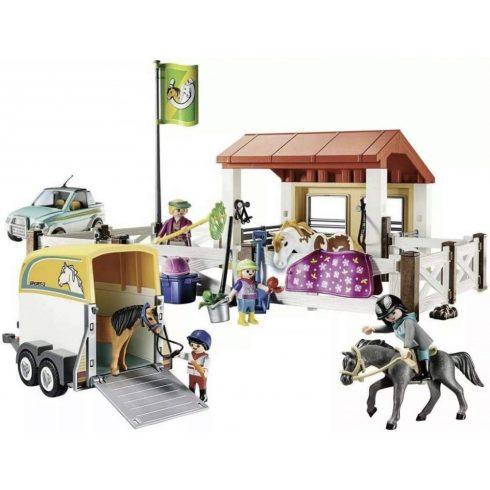 Playmobil 70325 Lovarda lószállítóval