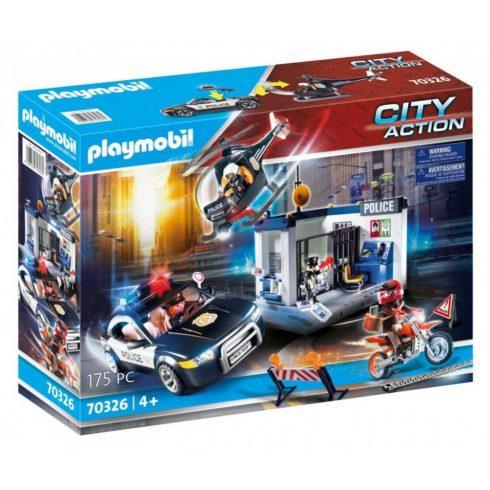 Playmobil 70326 Rendőrség autóval, motorral és helikopterrel