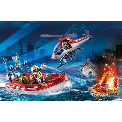 Playmobil 70335 Tűzoltóság helikopterrel és hajóval