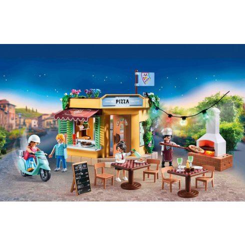 Playmobil 70336 Pizzéria kerthelyiséggel