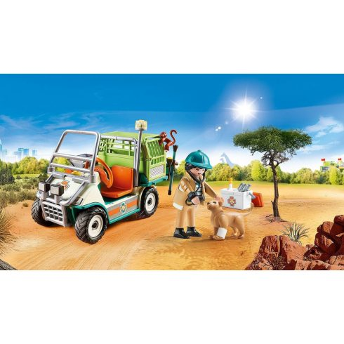Playmobil 70346 Állatkerti állatorvos járművel