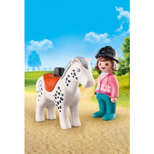 Playmobil 70404 1.2.3 Lovas lóval