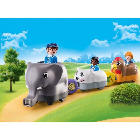 Playmobil 70405 1.2.3 Állatos vonat