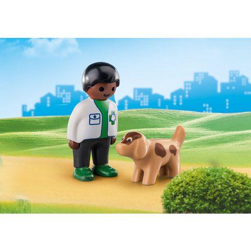 Playmobil 70407 1.2.3 Állatorvos kiskutyával