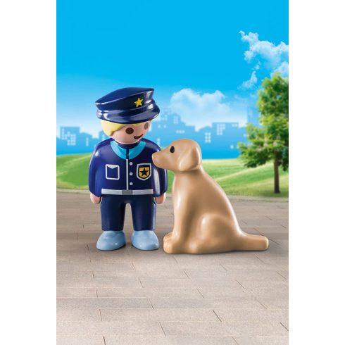 Playmobil 70408 1.2.3 Rendőr kutyával