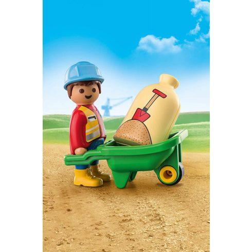 Playmobil 70409 1.2.3 Építőmunkás talicskával