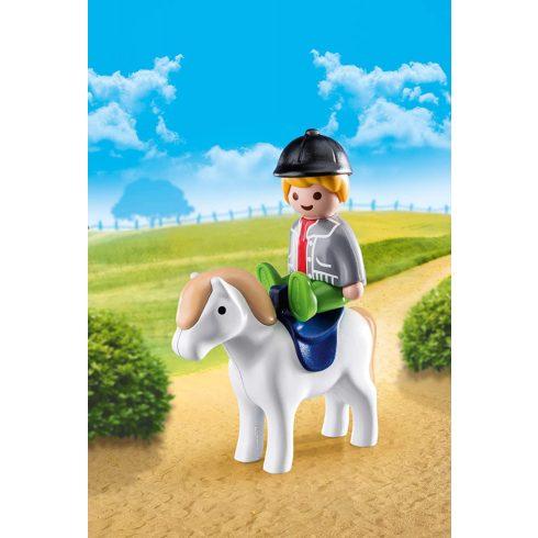 Playmobil 70410 1.2.3 Kisfiú pónival