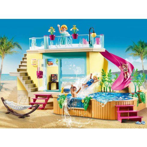 Playmobil 70435 Nyaraló medencével és csúszdával