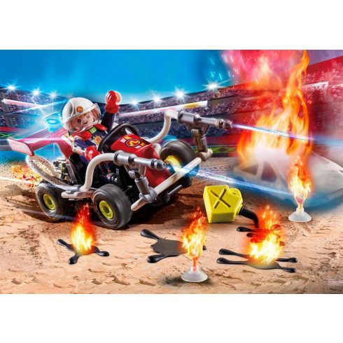 Playmobil 70554 Stuntshow - Tűzoltó gokart