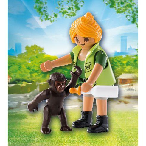 Playmobil 9074 Állatgondozó gorillabébivel