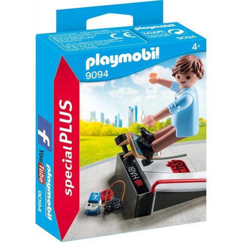 Playmobil 9094 Gördeszkás rámpával