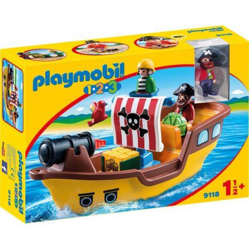 Playmobil 9118 1.2.3 Kalózhajó