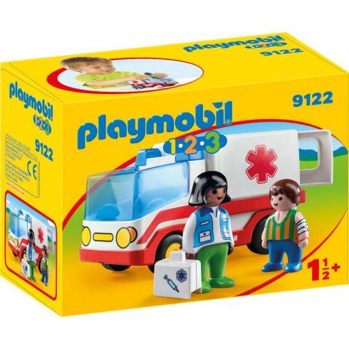 Playmobil 9122 1.2.3 Mentőautó