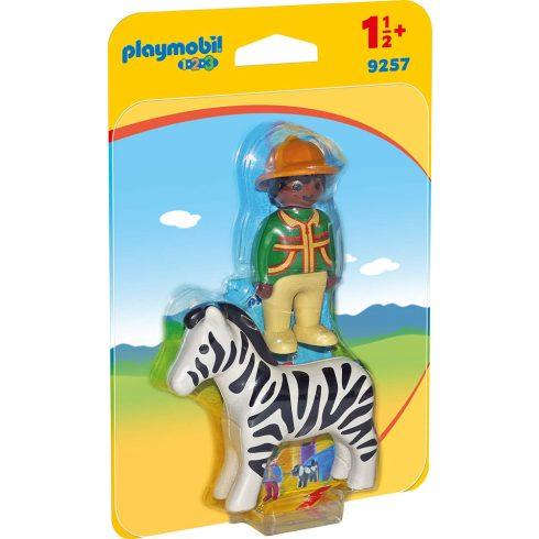 Playmobil 9257 1.2.3 Vadász és a zebra