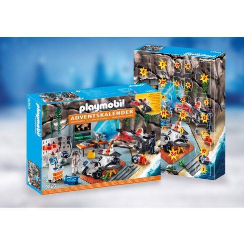 Playmobil 9263 Karácsony - Adventi kalendárium, naptár - Kémek főhadiszállása
