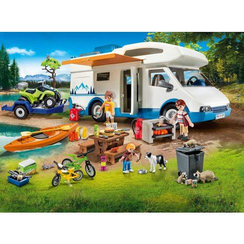 Playmobil 9318 Családi lakóautó quaddal
