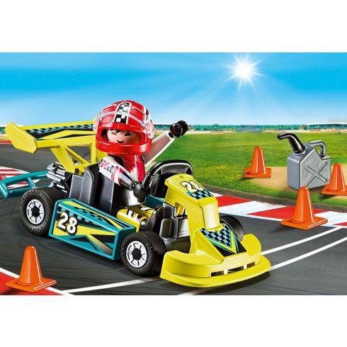 Playmobil 9322 Hordozható gokart verseny szett