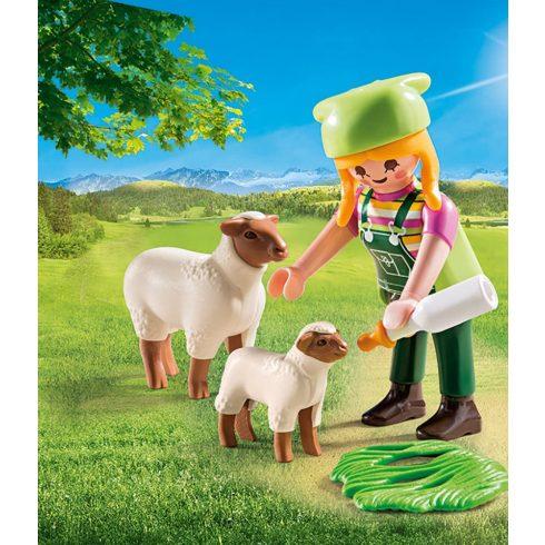 Playmobil 9356 Farmerlány bárányokkal