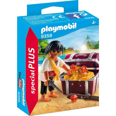 Playmobil 9358 Félszemű kalóz kincsesládával