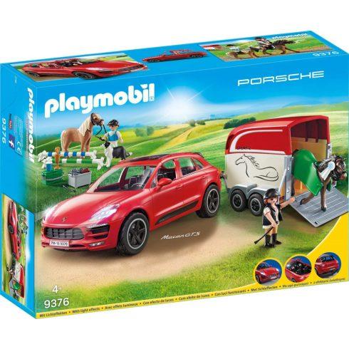 Playmobil 9376 Porsche Macan GTS lószállítóval