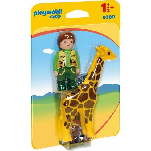 Playmobil 9380 1.2.3 Állatgondozó zsiráffal