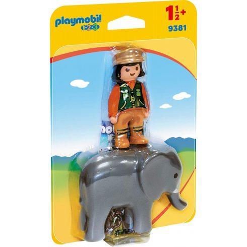 Playmobil 9381 1.2.3 Állatgondozó elefánttal