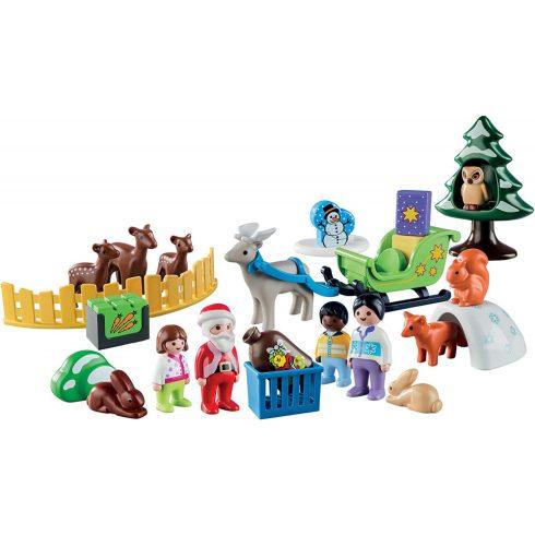 Playmobil 9391 Karácsony - 1.2.3 adventi kalendárium, naptár - Erdei karácsony