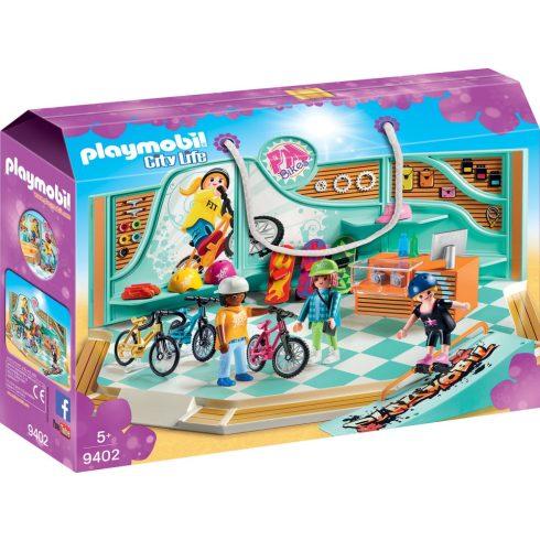 Playmobil 9402 Gördeszka- és bringabolt