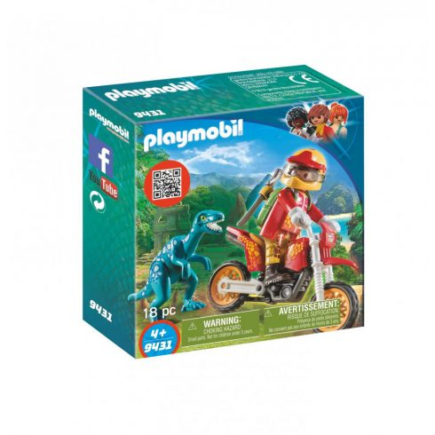 Playmobil 9431 Motocross raptorral