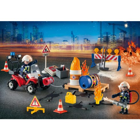 Playmobil 9486 Karácsony - Adventi kalendárium, naptár - Tűzoltók bevetésen